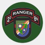 2d Bn, 75th Ranger Regiment - Airborne Round Sticker