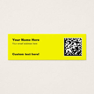 2D Code Business Cards - Skinny
