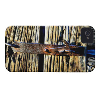 2D Old Wooden Door & Iron Latch Rustic Phone Case iPhone 4 Case-Mate Cases