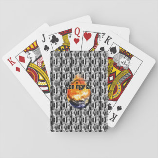 2DR Mafia World On Fire Playing Cards