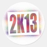 2k13 2013 classic round sticker