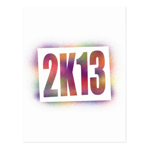 2k13 2013 postcard