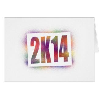 2k14 2014 greeting card