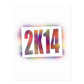 2k14 2014 postcard