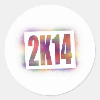 2k14 2014 round sticker