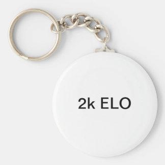 2k ELO Basic Round Button Key Ring