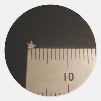 2mm Origami Crane Round Sticker