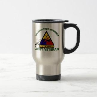 2nd AD Vet 15 Oz Stainless Steel Travel Mug
