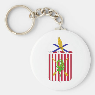 2nd Air Defense Artillery Regimental Coat of Arms Basic Round Button Key Ring