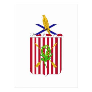 2nd Air Defense Artillery Regimental Coat of Arms Postcard