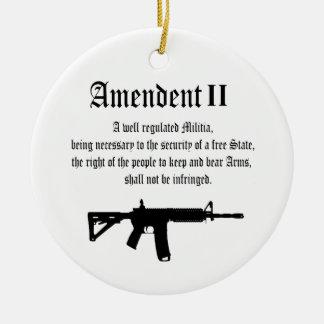 2nd Amendment Christmas Ornament