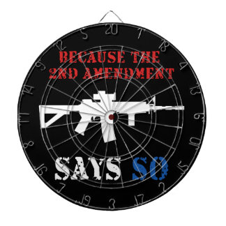 2nd Amendment Dart Board