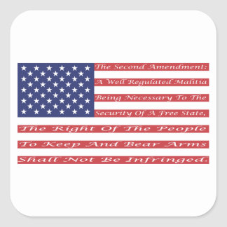 2nd Amendment Flag Square Sticker