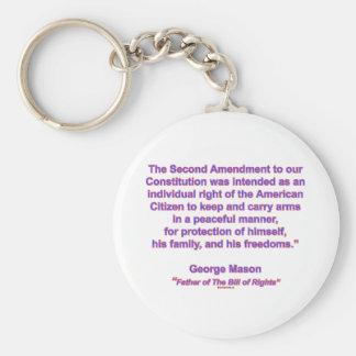 2nd Amendment - George Mason Basic Round Button Key Ring