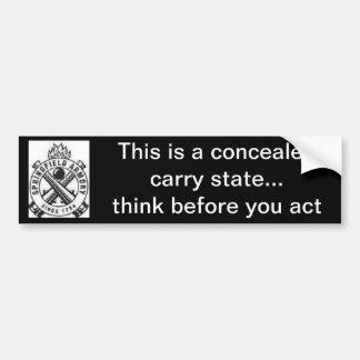 2nd Amendment/gun control/concealed carry Bumper Sticker