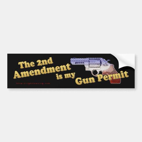 2nd Amendment Gun Permit Bumper Sticker
