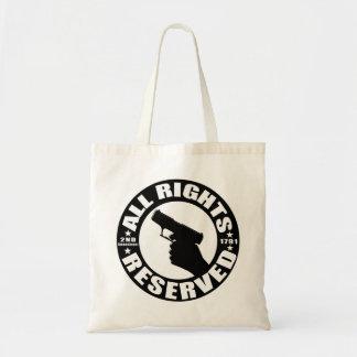 2nd Amendment Gun Rights Black and WhiteTote Bag