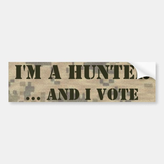 2nd Amendment Hunter and Voter Bumper Sticker
