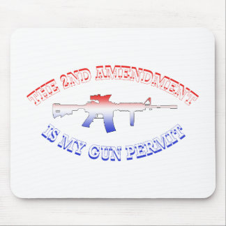2nd Amendment Is My Gun Permit Mousepad