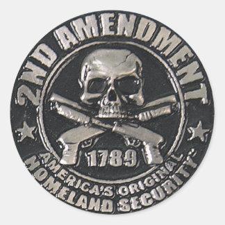 2nd Amendment Medal Classic Round Sticker