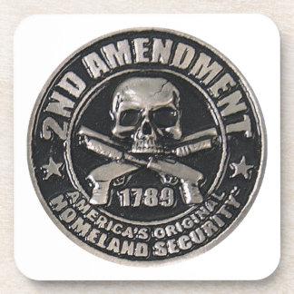 2nd Amendment Medal png Drink Coaster