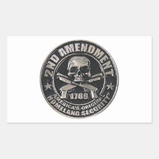2nd Amendment Medal Rectangular Sticker