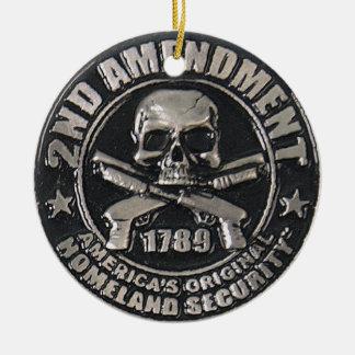 2nd Amendment Medal Round Ceramic Decoration
