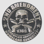 2nd Amendment Medal Round Sticker