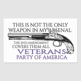 2nd Amendment Rectangle Sticker