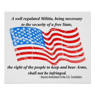 2nd Amendment to the Constitution Poster
