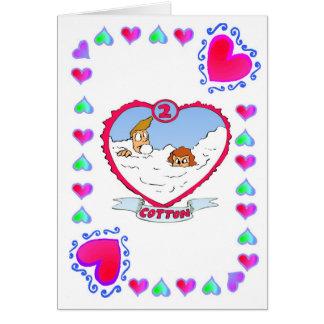 2nd Anniversary  Cotton Card