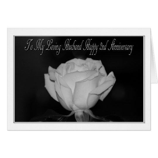 2nd Anniversary Husband Card