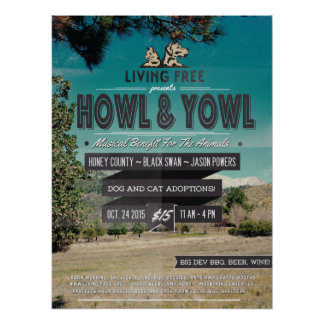 "2nd Annual ""Howl & Yowl"" Benefit For The Animals Poster"