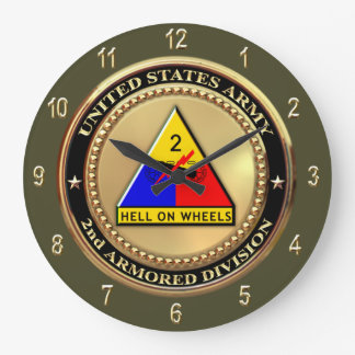 2nd Armor Division Large Clock