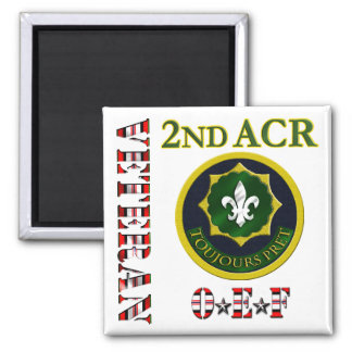 2nd Armored Cavalry OEF Refrigerator Magnet