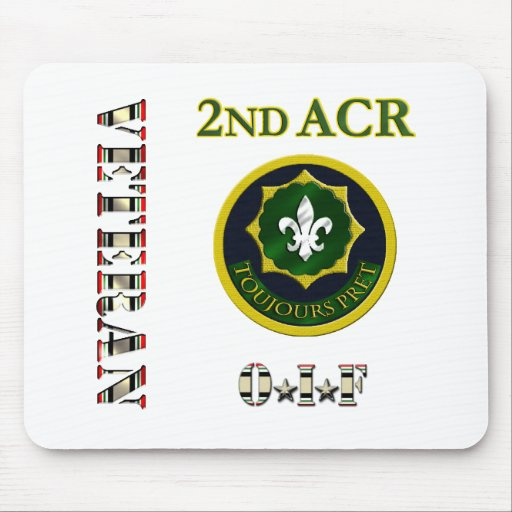 2nd Armored Cavalry OIF Mousepads