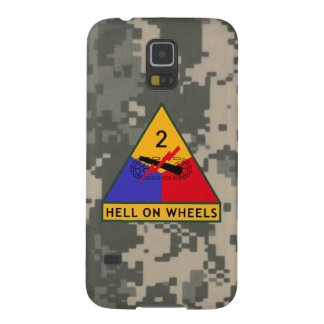 "2nd Armored Division ""Hell On Wheels"" Galaxy S5 Cases"
