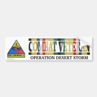 2nd Armored Division SWA Combat Veteran Sticker Bumper Stickers