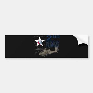 2nd Aviation Regiment - Apache Bumper Sticker