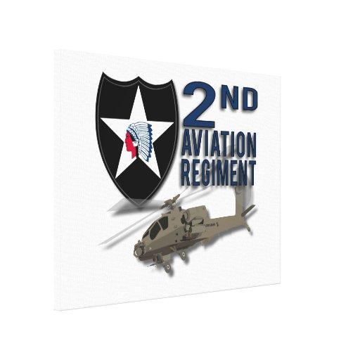 2nd Aviation Regiment - Apache Gallery Wrap Canvas