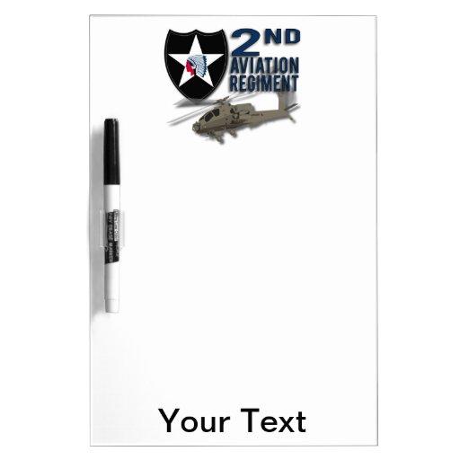 2nd Aviation Regiment - Apache Dry Erase Whiteboard