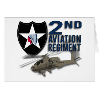 2nd Aviation Regiment - Apache Greeting Cards
