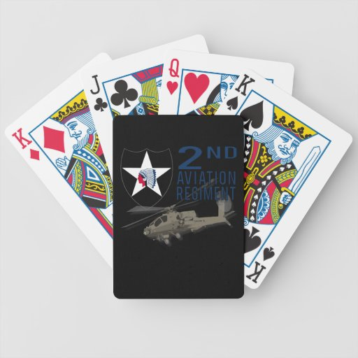 2nd Aviation Regiment - Apache Bicycle Poker Cards