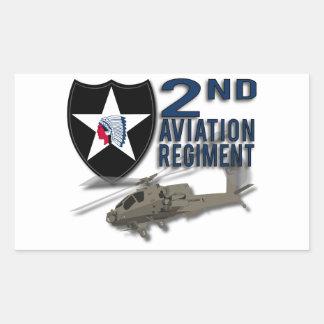 2nd Aviation Regiment - Apache Rectangle Stickers