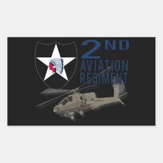2nd Aviation Regiment - Apache Rectangle Sticker