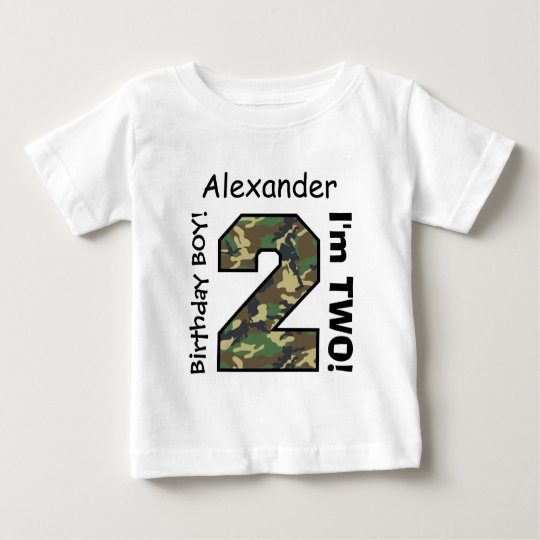 2nd BABY Birthday Big Sports Number A22 CAMO