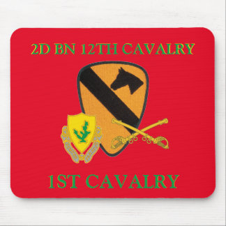 2ND BATTALION 12TH CAVALRY 1ST CAVALRY MOUSEPAD