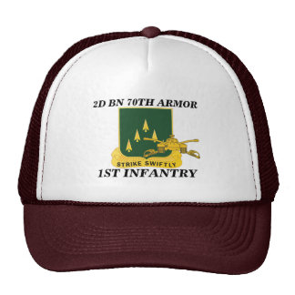 2ND BATTALION 70TH ARMOR 1ST INFANTRY HAT