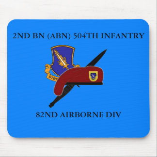 2ND BATTALION ABN 504TH INFANTRY MOUSEPAD MOUSE PAD