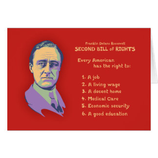 2nd Bill of Rights Greeting Card